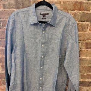 Like New Men's Linen Michael Kors Shirt- Classic